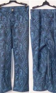 Boho Slim Leg Plus size Cropped Jeans
